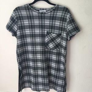 Zara Tartan Plaid Pocket Tunic